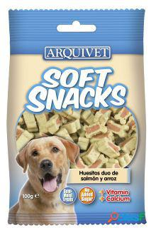 Arquivet soft snacks huesitos duo salmón y arroz 100 gr