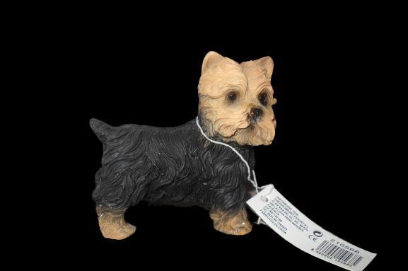 Figura de perro mascota de escayola 6 cm alto x 6 cm ancho
