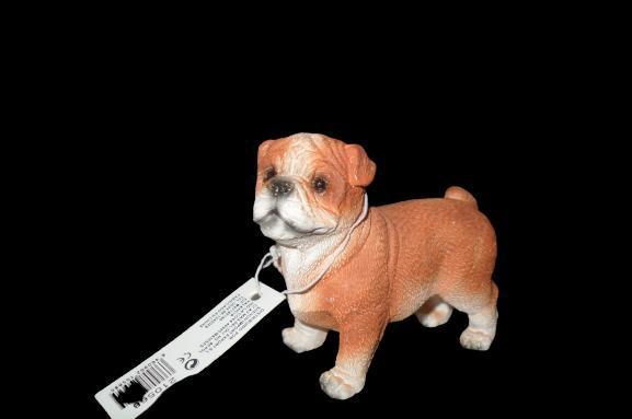 Figura de perro mascota de escayola 7 cm alto x 6 cm ancho