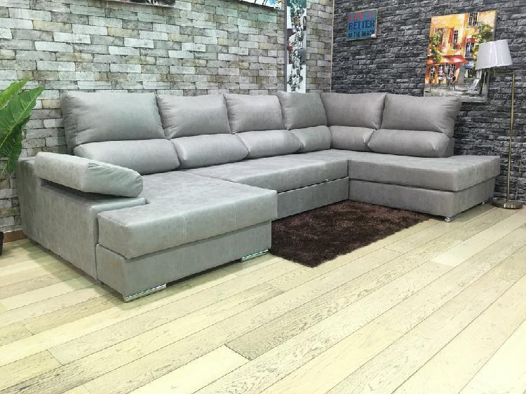 Gran-sofá cama chaise longue forma u ¡promoción!