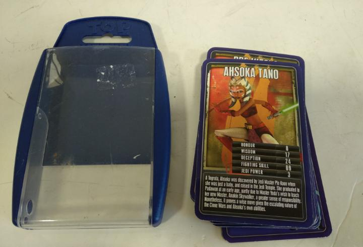 Juego cartas top trums.star wars.rise of the bounty hunters