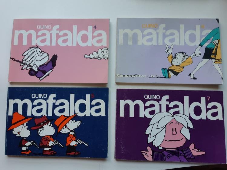 Lote completo de 11 volúmenes de mafalda años 80