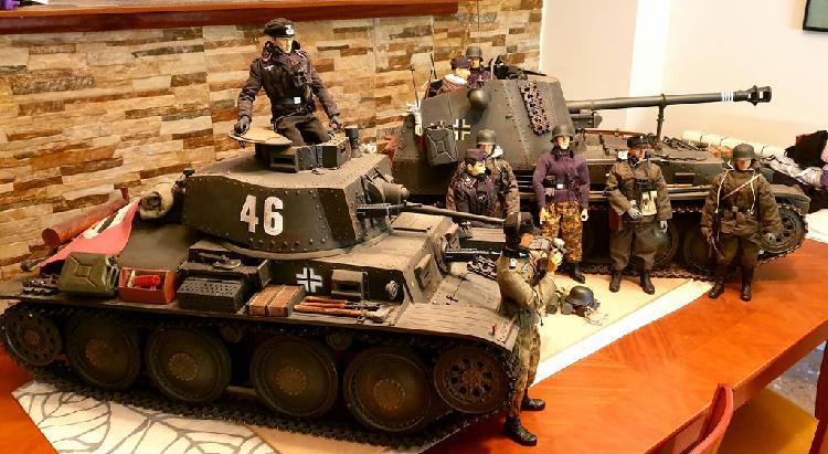 Panzer lt vz 38 escala 1:6 color gris (precio fijo