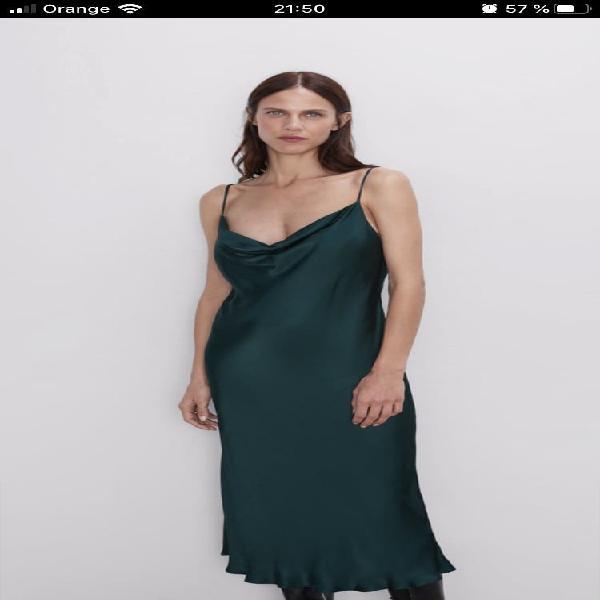 Zara. vestido lencero. nuevo!