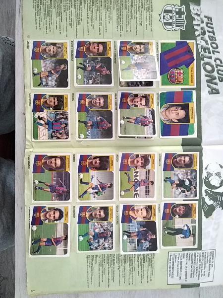 Album cromos futbol 91/92