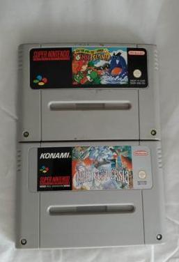 2 juegos super nintendo originales