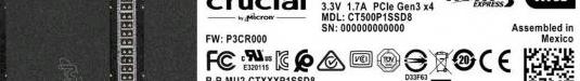 Disco duro ssd 500 gb nvme m2 pcie