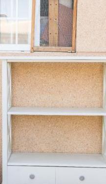 Mueble librería madera maciza lacado blanco