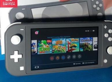 Nintendo switch lite gris animal crossing