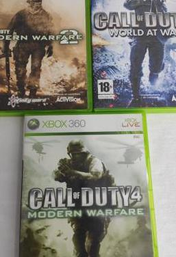 Pack juegos call of duty xbox 360
