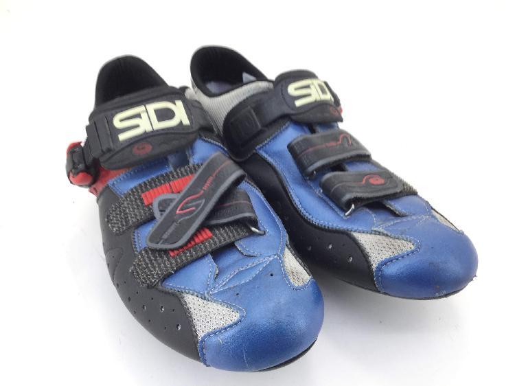 Zapatilla ciclismo sidi rojo azul
