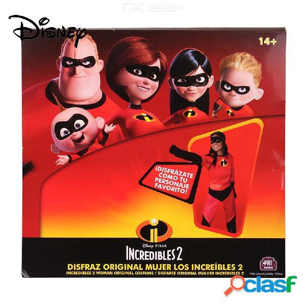Disney pixar el traje de los increíbles para las chicas de 14 años y una máscara de w / 1 pc, cinturón y 1 par de guantes.