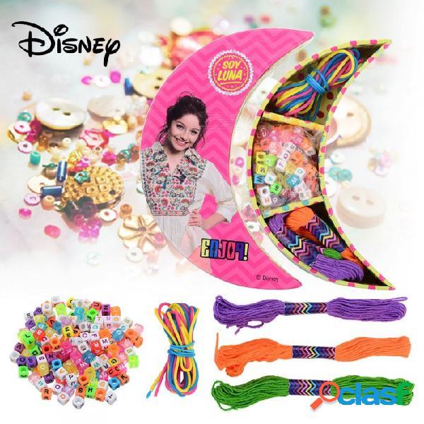 Disney soja luna cartoon diy colorido pulsera letras perlas hilos de silicona set pulsera hecha a mano accesorios para niños juguetes regalos multicolor