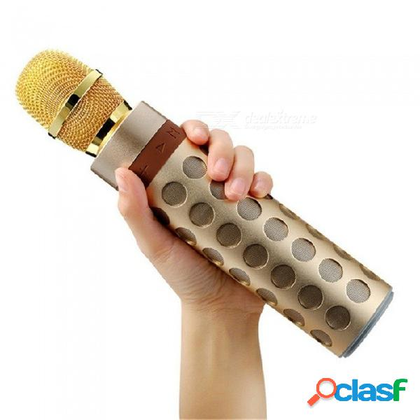 Inalámbrico bluetooth altavoz karaoke micrófono profesional jugador altavoz aluminio subwoofer partido ktv cantar micrófono otro / altavoz