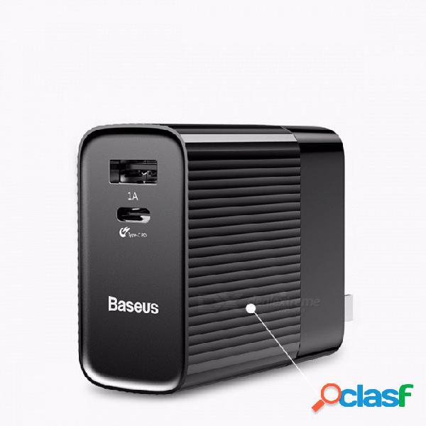 Baseus 30w tipo-c pd + cargador rápido usb enchufe de ee.uu. para iphone macbook adaptador de carga rápida xiaomi para teléfono universal blanco / universal
