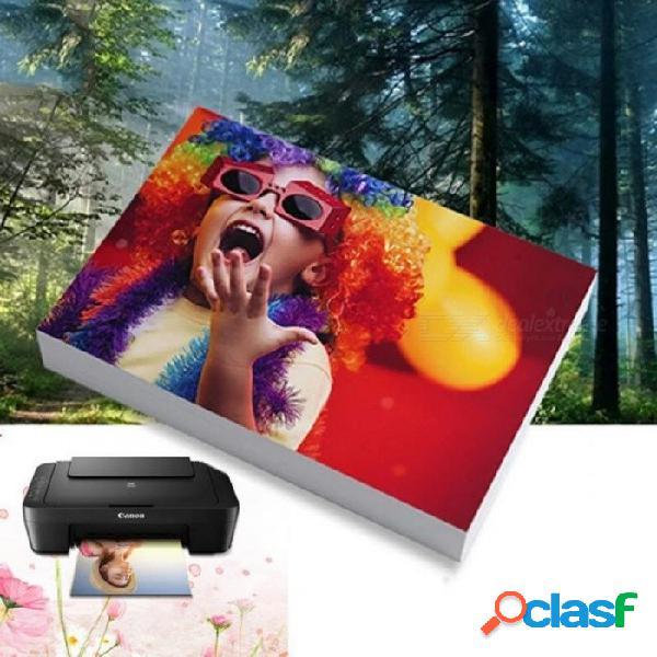 Papel fotográfico 3r, 4r, 5r, 6r, a7, a6, a5, a4 impresora brillante de 100 hojas impresión de papel fotográfico para impresoras de inyección de tinta suministros de oficina
