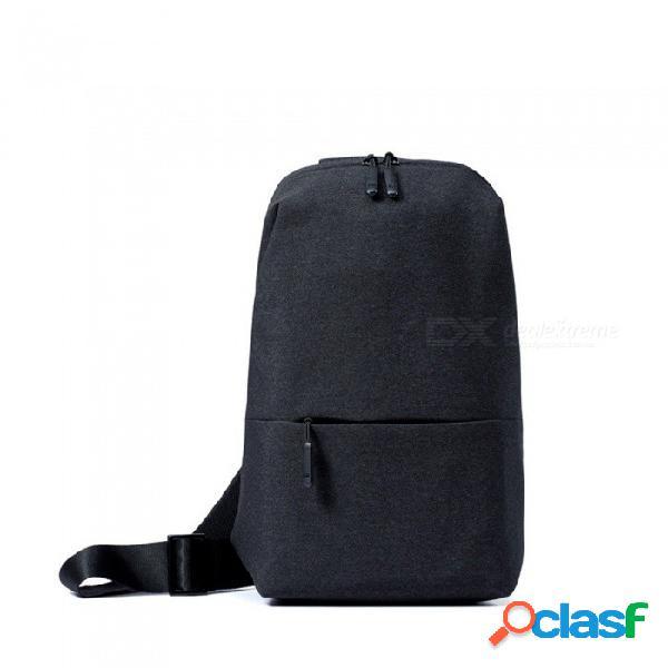 Xiaomi mochila bolsa de arnés ocio cofre paquete tamaño pequeño tipo de hombro unisex mochila bandolera 4l poliéster