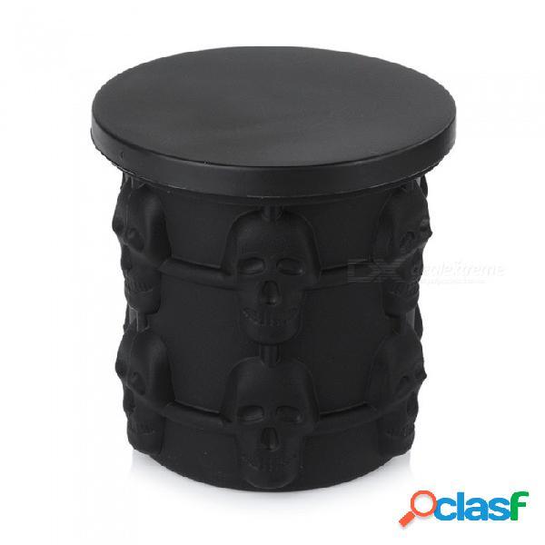 10 * 10 cm cráneo fabricante de cubitos de hielo genio revolucionario ahorro de espacio cubos de hielo fabricante de genio de hielo herramientas de cocina gris