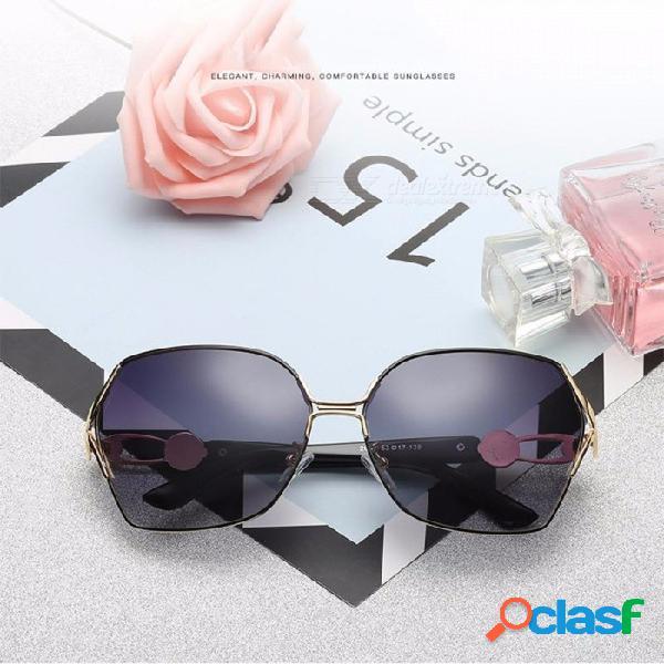 Gafas de sol cuadradas polarizadas de las nuevas gafas de sol de protección uv que conducen las gafas de sol uv400 para mujeres negras