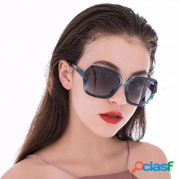 Gafas oculares polarizadas protección uv gafas cuadradas de protección ultravioleta uv400 277 para mujeres negras