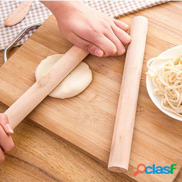Madera natural rodillo de cocina herramienta de cocina que hace la torta para hornear artesanía rodillo de decoración pasta de pasta de pasta pasta de pasta
