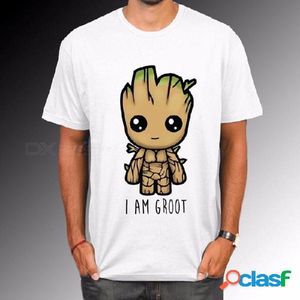 Nueva camiseta de los guardianes de la galaxia 2 para hombres, diversión de verano soy la camiseta con patrón de letras groot, tops femeninos geniales