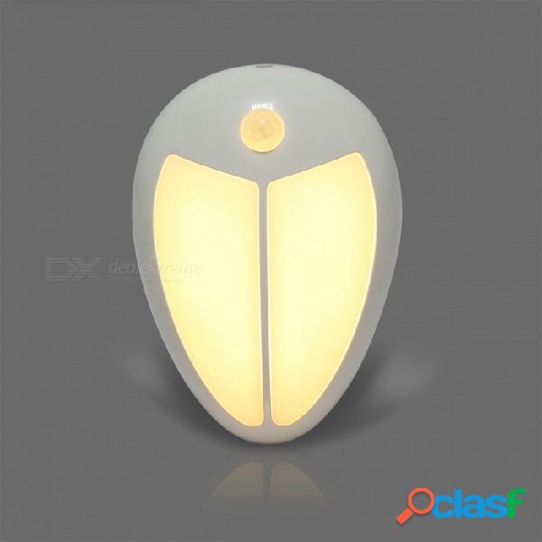 Mini luz de noche infrarroja inalámbrica del bebé del sensor de movimiento del led, lámpara de pared del pórtico para las escaleras del gabinete del vestíbulo del dormitorio - blanco caliente