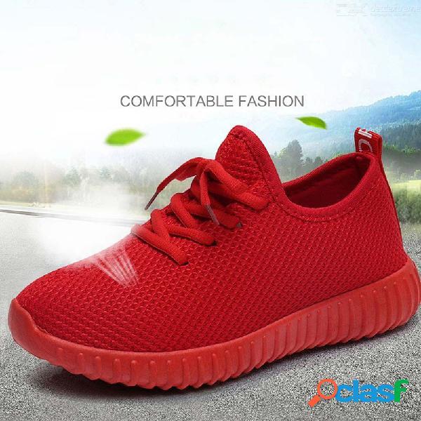 Primavera otoño mujer zapatos casuales cómoda tela de algodón con cordones plataforma transpirable zapatillas