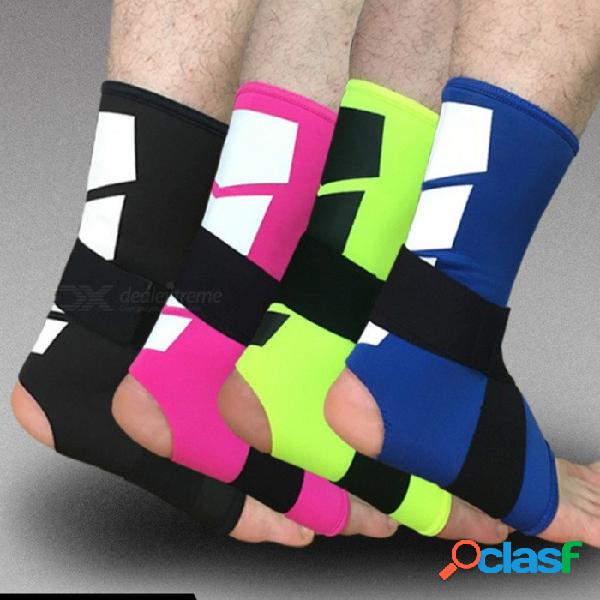 1 unids soporte de tobillo ajustable bandas elásticas de alta protección de equipos deportivos de seguridad correr baloncesto tobillera soporte negro / l