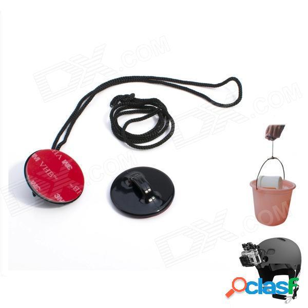 3m cinturones de seguridad para dv / suptig / gopro héroe 4/2 / 3/3 + / sj4000 - negro + rojo (2 piezas)