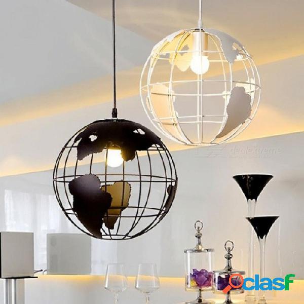 Artes creativas café bar restaurante dormitorio vestíbulo lámpara escandinavo moderno minimalista colgante de una cabeza con luz blanca tierra