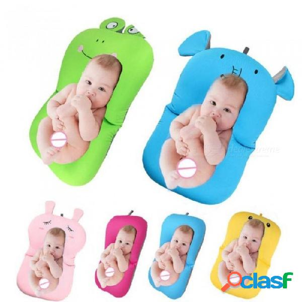 Bebé bañera recién nacido bebé plegable bebé bañera almohadilla cojín amp silla estante recién nacido bañera asiento infantil apoyo cojín estera estera de baño