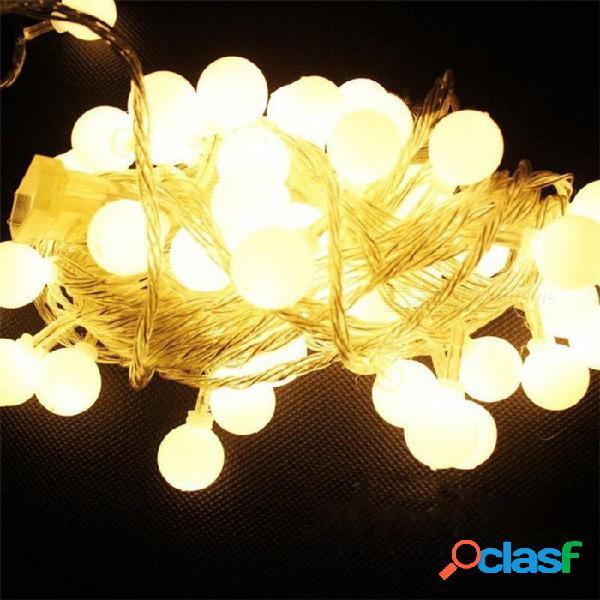P-top 5 m 50 led blanco cálido con pilas bola de cereza hada cadena de luz decorativa para la boda luz de navidad