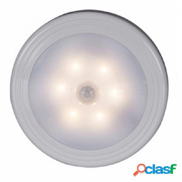 Sensor de movimiento brillante ir infrarrojo magnético activado luz de la noche de pared led con encendido / apagado automático - luz blanca cálida
