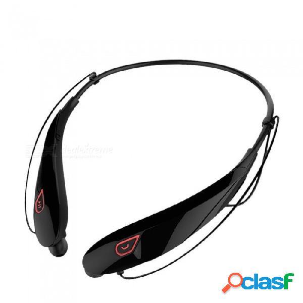 Auricular inalámbrico bluetooth y98, deportes con auriculares estéreo con banda para el cuello con sonido estéreo y micrófono blanco