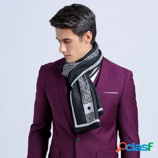 Bufanda de seda de los hombres bufanda de seda de cachemira mantón de buena calidad 180 * 30 cm bufandas de invierno cálido para hombres de un tamaño