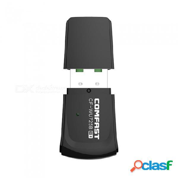 Comfast bluetooth4.0 + wifi dongle rtl8723bu chipset 802.11n wifi adaptador usb cf-wu725b wifi receptor / transmisor negro