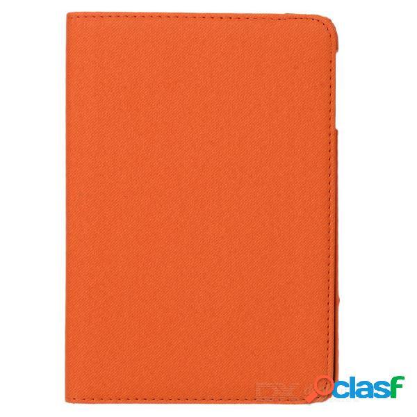 Cuero de la pu + caso plástico con el soporte / sueño auto para la reina ipad mini / ipad mini 1 - naranja