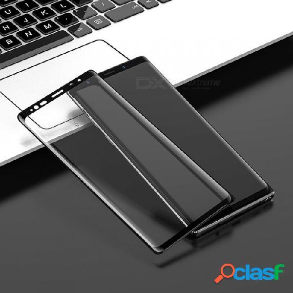 Hoco hd vidrio templado protector de pantalla de cubierta completa borde de vidrio anti-huellas digitales de acero para samsung galaxy note 9 negro / templado de vidrio