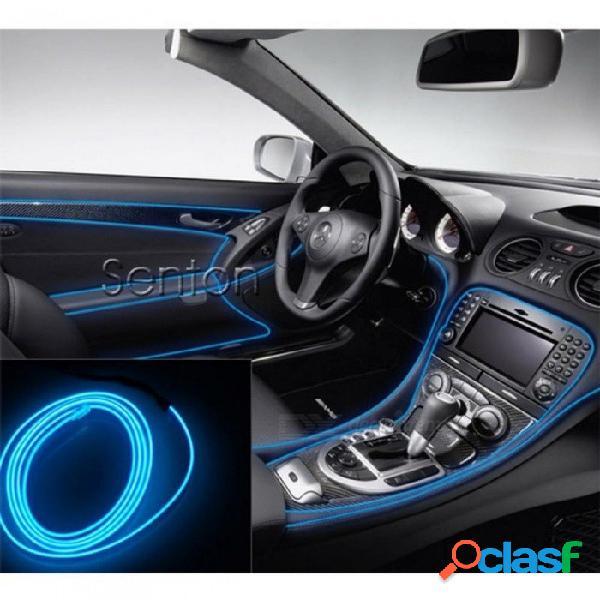 Interior del coche luces ambiente estilo para audi a3 a4 b6 b8 b7 b5 a6 c5 c6 q5 a5 q7 tt a1 s3 s4 s5 s6 s8 accesorios 5m azul