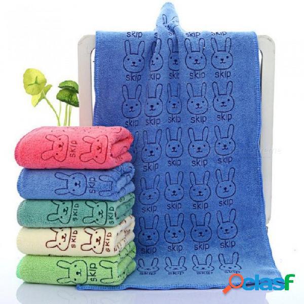 25 * 50 cm lindo bebé toalla de cara de niño microfibra absorbente baño de secado toalla de playa toallita de baño toalla de bebé algodón niños toalla roja