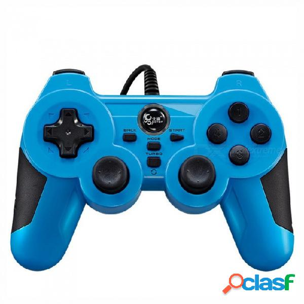 Manija del juego usb con cable para pc de computadora, teléfonos inteligentes con android tv juego gamepad controlador joystick blanco