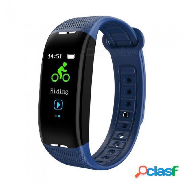 Pantalla a color x1 usb que carga la pulsera inteligente del bluetooth con el monitor de la presión arterial del ritmo cardíaco, monitor del sueño del ejercicio - rojo