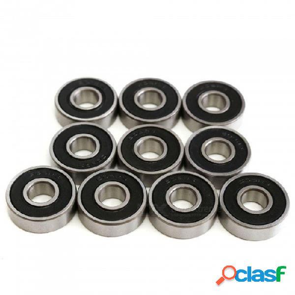 Rodamiento de bolas btoomet 608rs // 2rs, ranura profunda de goma sellada de 8 mm x 22 mm x 7 mm, ancho doble sellado (paquete de 10)