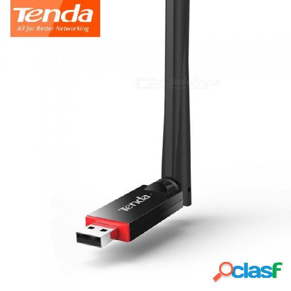 Tenda u6 tarjeta de adaptador de red usb inalámbrico wifi red usb modo de estación de usb 2.0 softap modo 1 * 6dbi antena externa negro