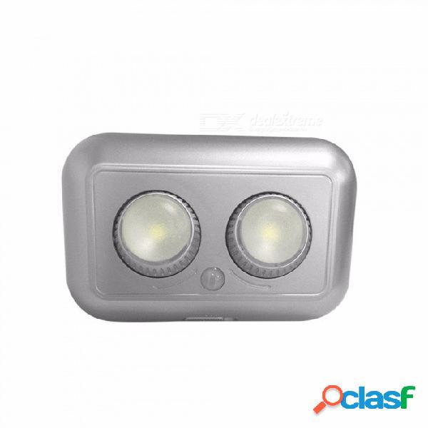 1w infrarrojo sensor de movimiento del cuerpo humano led noche ángulo de haz de luz ajustable creativo gabinete lámpara de pasillo 3 x aaa blanco cálido / gris claro