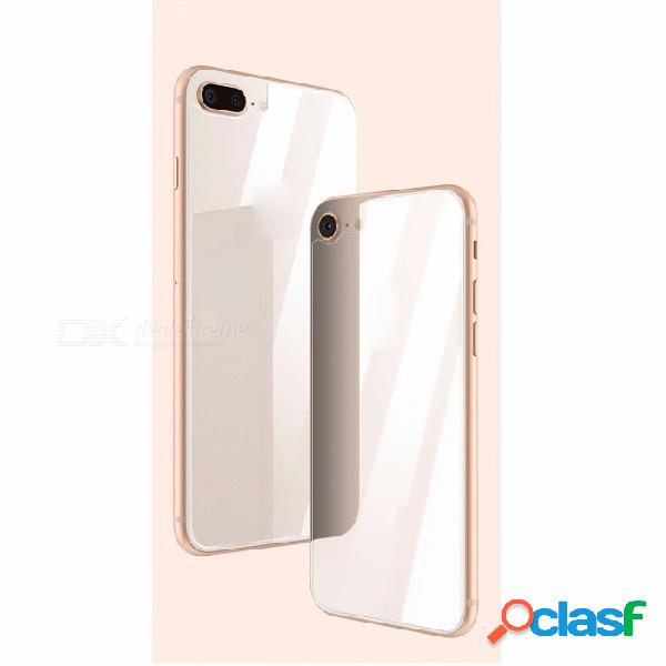 Baseus 0.3mm protector de la pantalla trasera de cristal templado para iphone 8 protección del cuerpo cristal de la película de vidrio templado posterior transparente / templado
