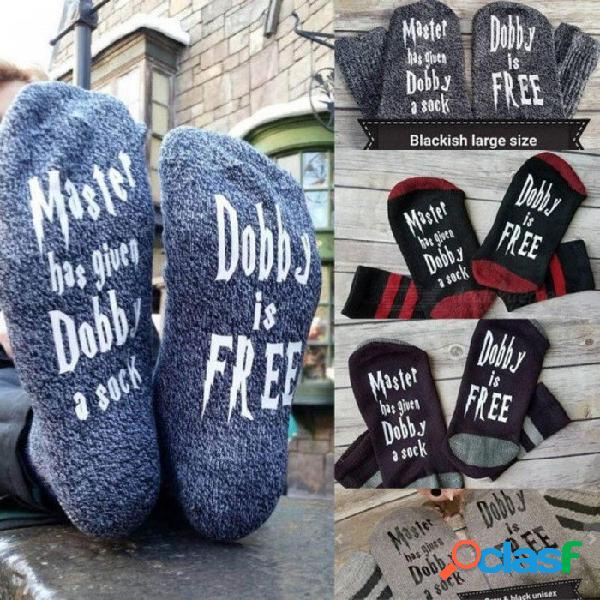 Calcetines de las mujeres carta impresa calcetines de cachemira lindo otoño primavera meia calcetines divertidos femmal invierno cálidamente calcetines modelo 6