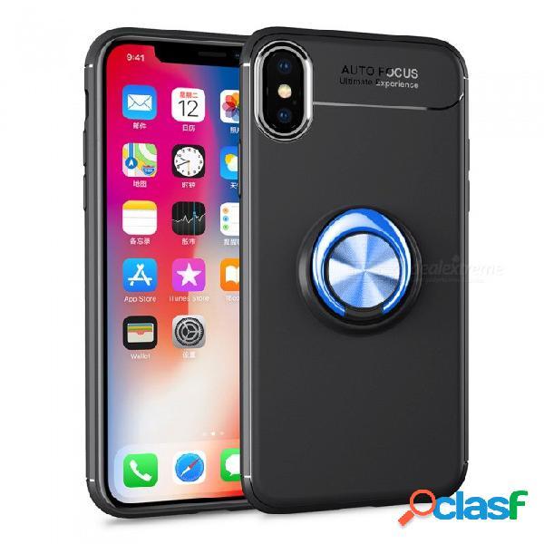 Funda de teléfono móvil zhaoyao tpu protección magnética para el medio ambiente con dedo magnético para iphone xs