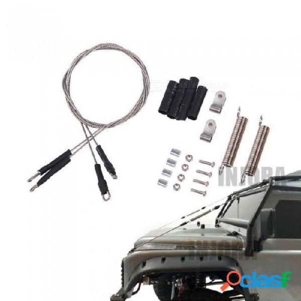 Cuerda de acero de la pieza modificada del coche de rc para traxxas 1/10 rc traxxas trx-4 trx4 cuerda de acero axial scx10 rc4wd d90 d110